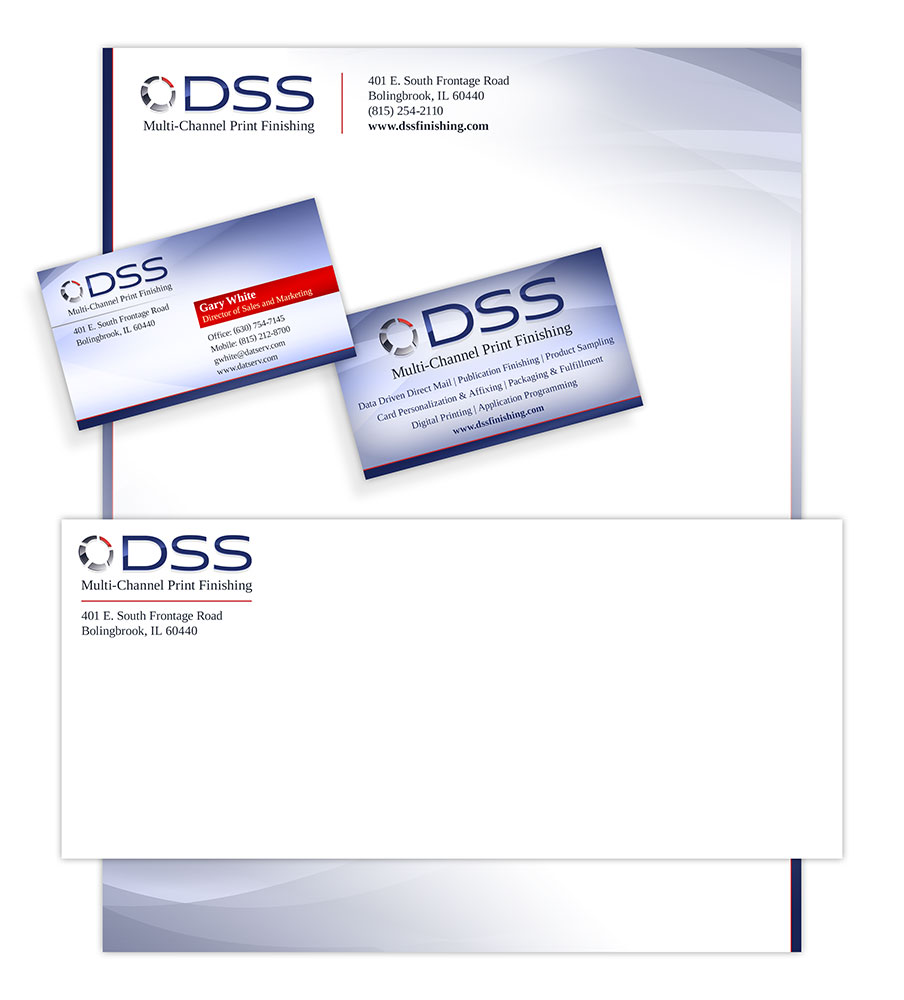 Printing company business suite design