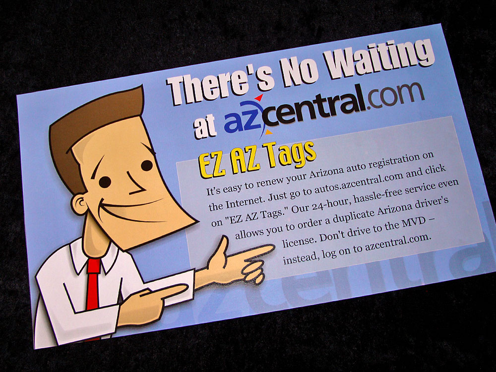 azcentral.com print ad design and illustration