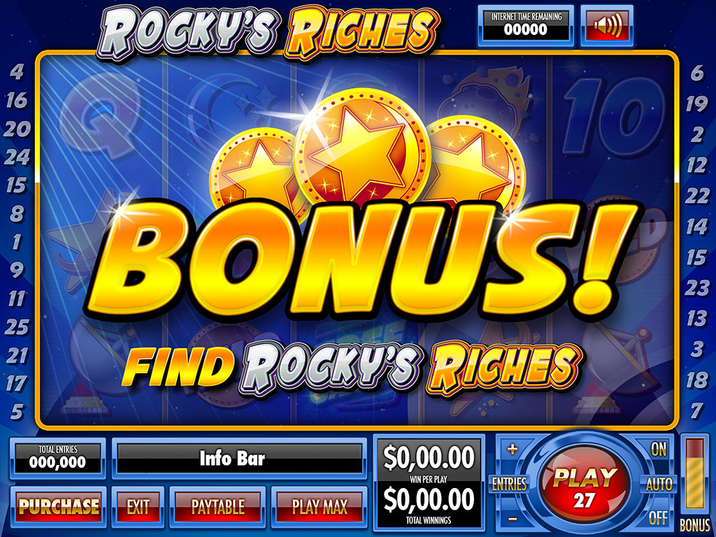 Rocky's Riches bonus trigger design