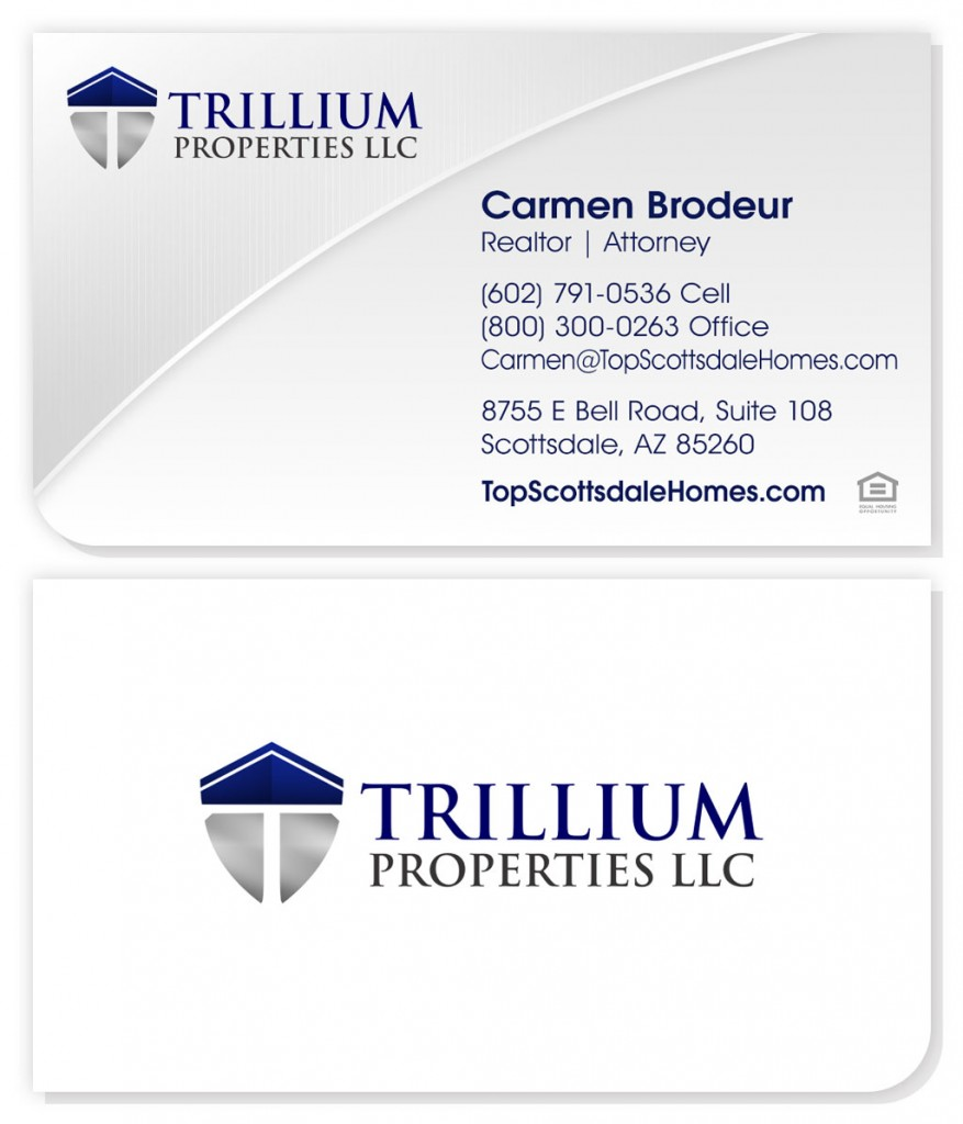 Real estate agency business card design