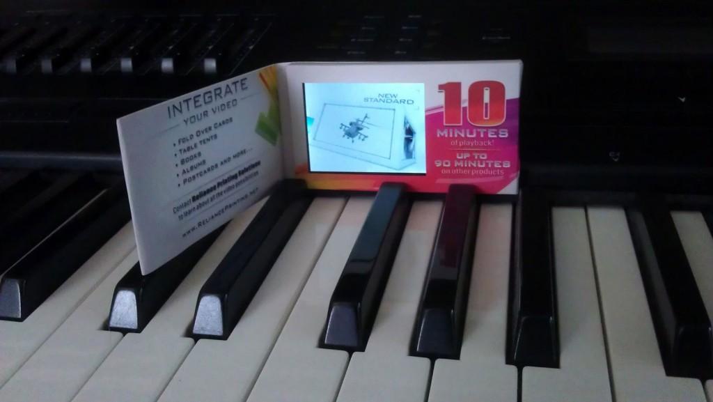 Video business card design for print broker