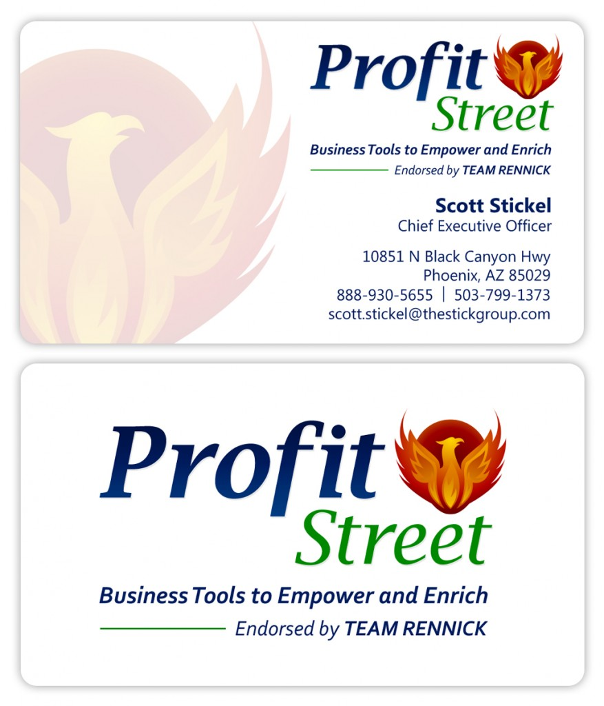 Business software company business card design