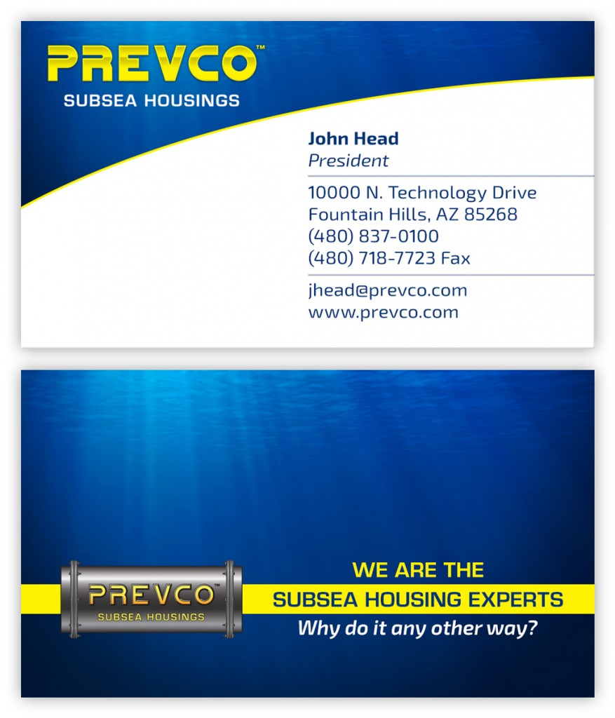 Business card design for engineering consultancy