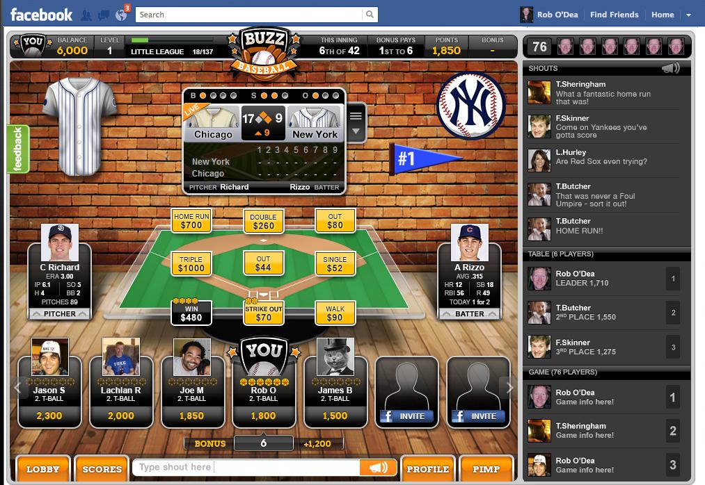 Facebook game user interface design