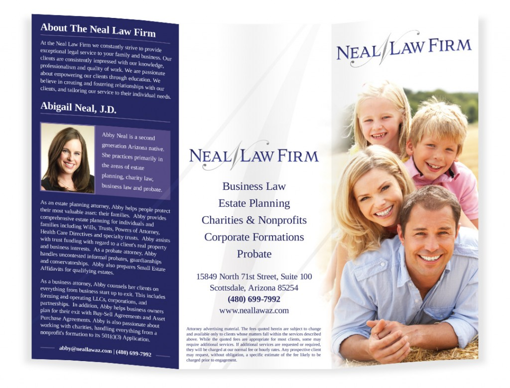 Brochure design for a law firm