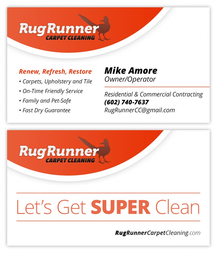 small business carpet cleaner business card design