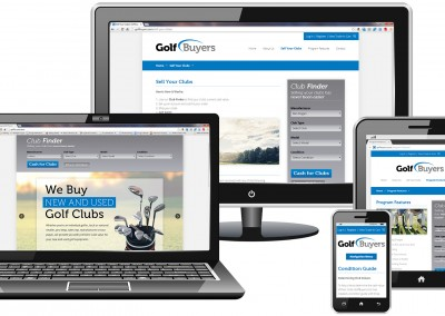 Responsive WordPress website design for online golf retailer