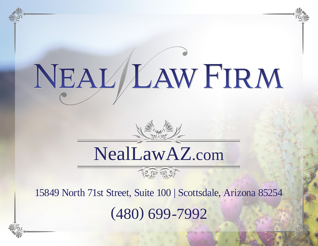 Postcard design for law firm in Scottsdale, Arizona