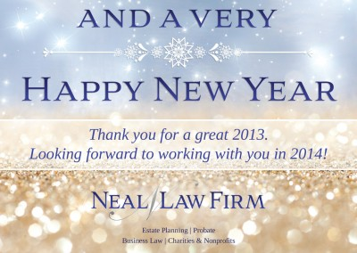 New Year postcard design for lawyer in Arizona