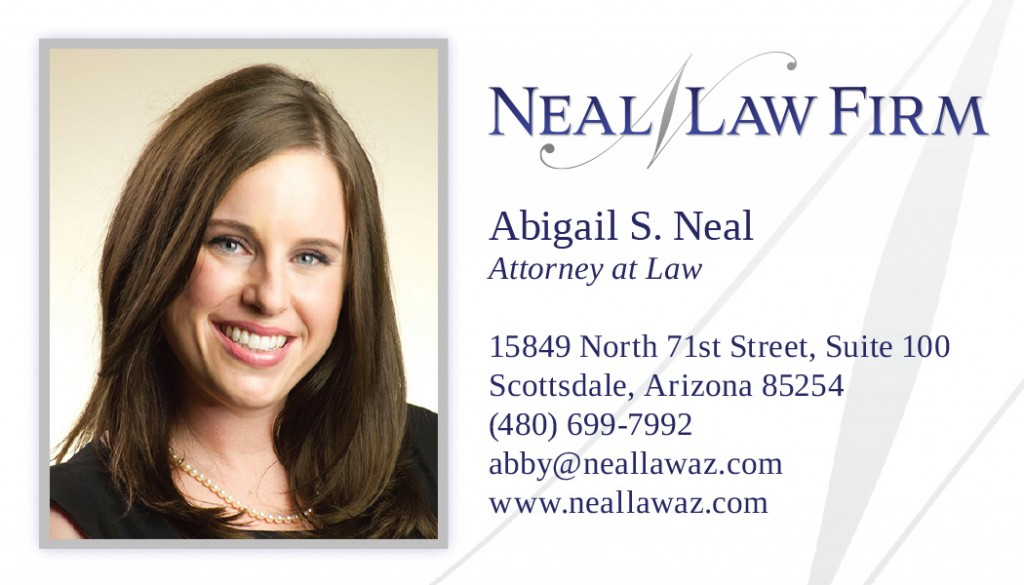 Business card design for a law firm