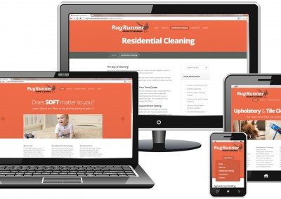 Responsive WordPress website design for carpet cleaning company
