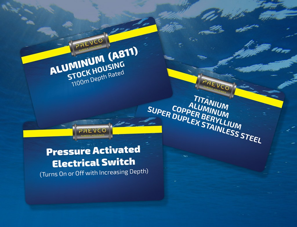 Product display card designs for subsea manufacturer in Fountain Hills, Arizona