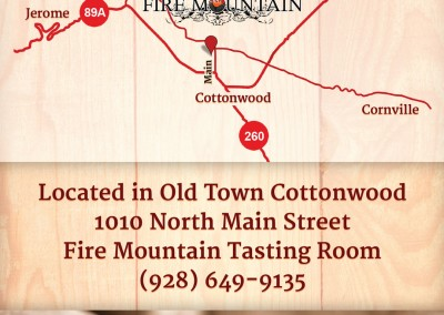Rack card design for an Arizona winery and tasting room