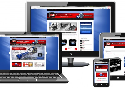 Responsive WordPress website design for battery retailer