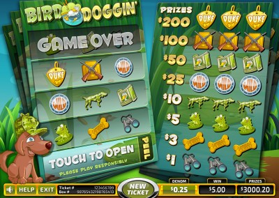 Bird Doggin' video pull tabs basegame
