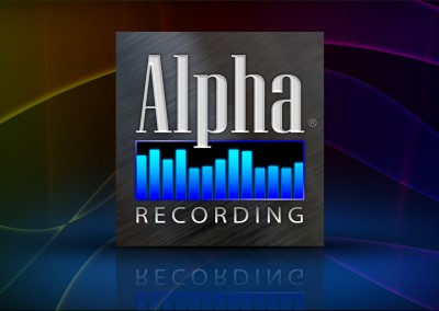 Alpha Recording Logo Design