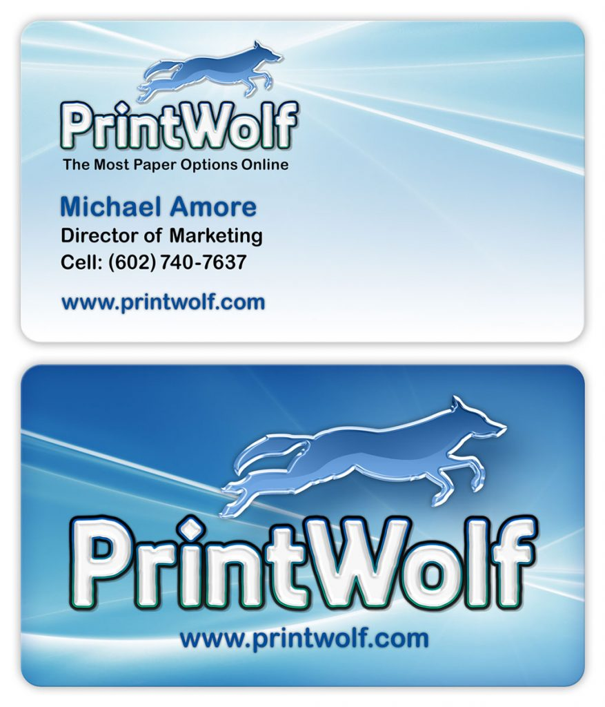 Business card design for online printing company