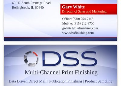 Printing company business card design