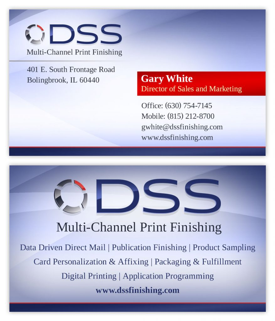 Printing company business card design