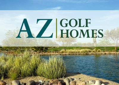 AZ Golf Homes Logo Design