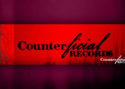 Counterficial Records Logo Design