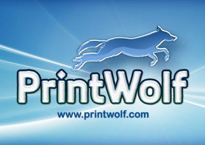 PrintWolf Logo Design
