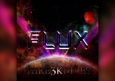 Thre3Knives FLUX Album Cover Design