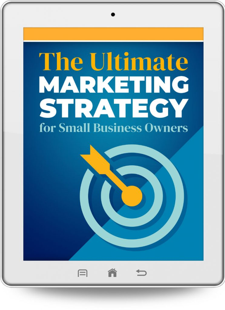 The Ultimate Marketing Strategy ebook cover tablet