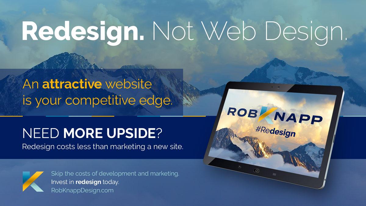 Redesign. Not Web Design.