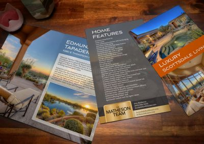 Real Estate bifold flyer design spread