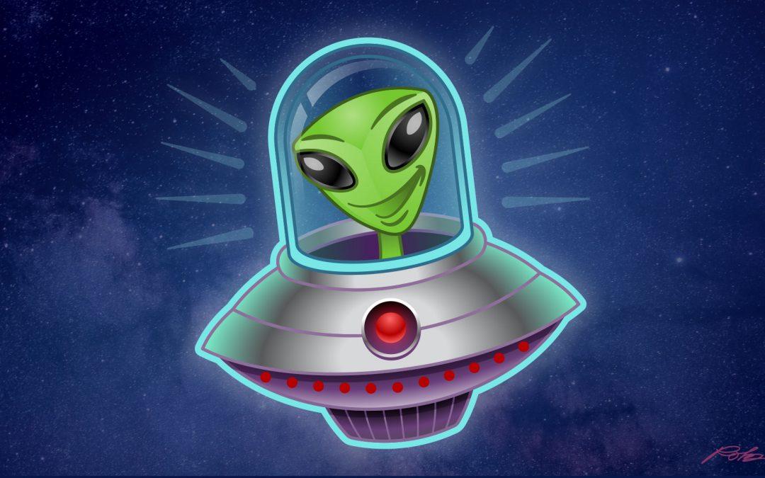 Alien UFO Character Illustration