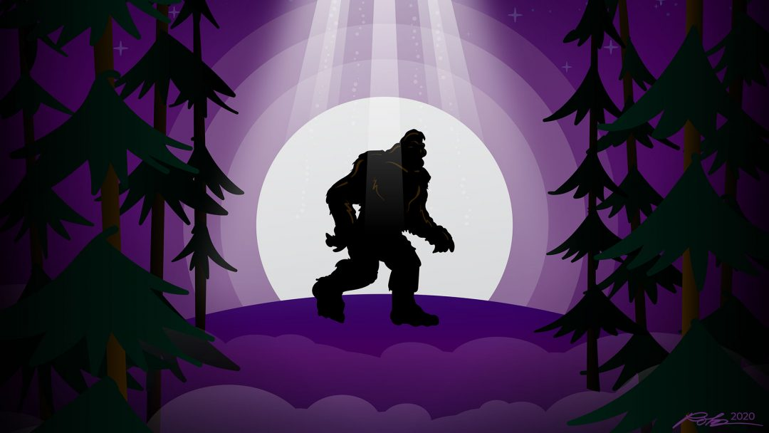 Bigfoot UFO vector illustration