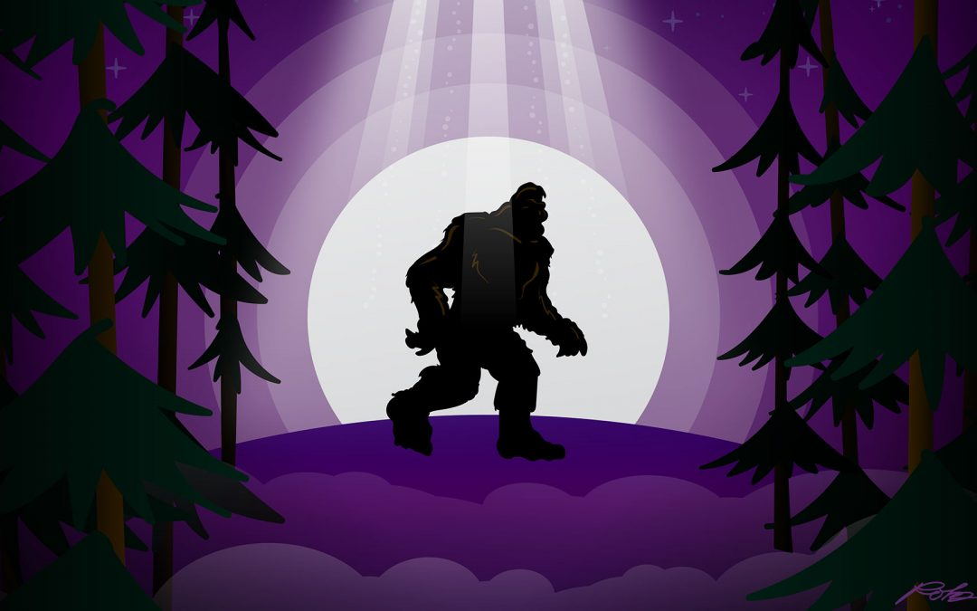 Bigfoot UFO Vector Illustration