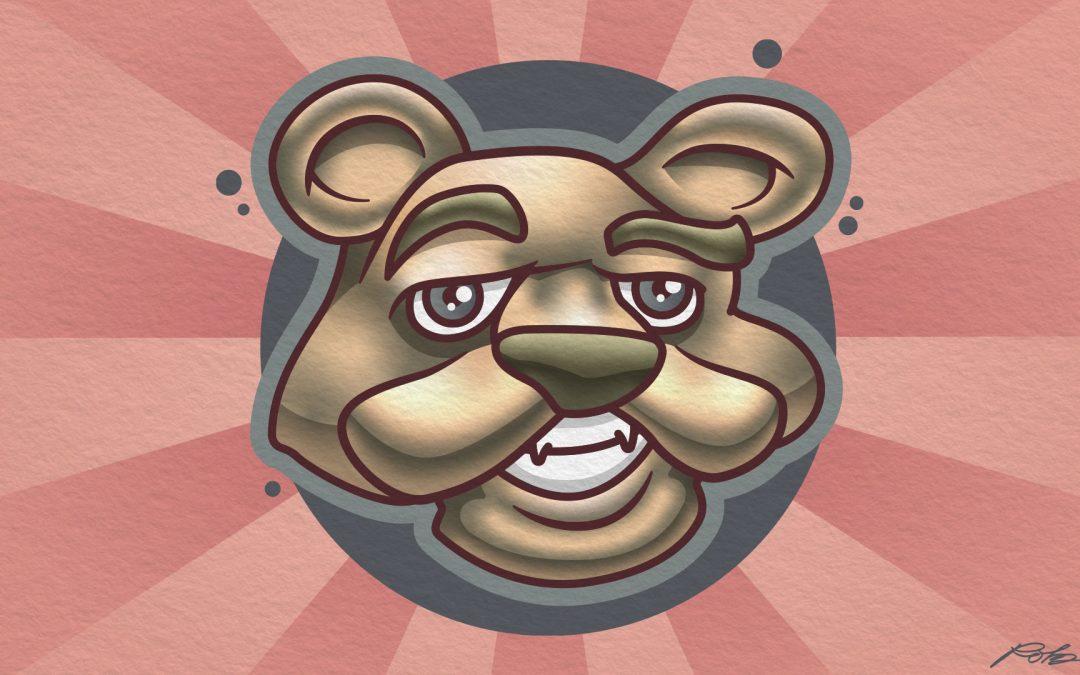 Cartoon Bear Face Illustration