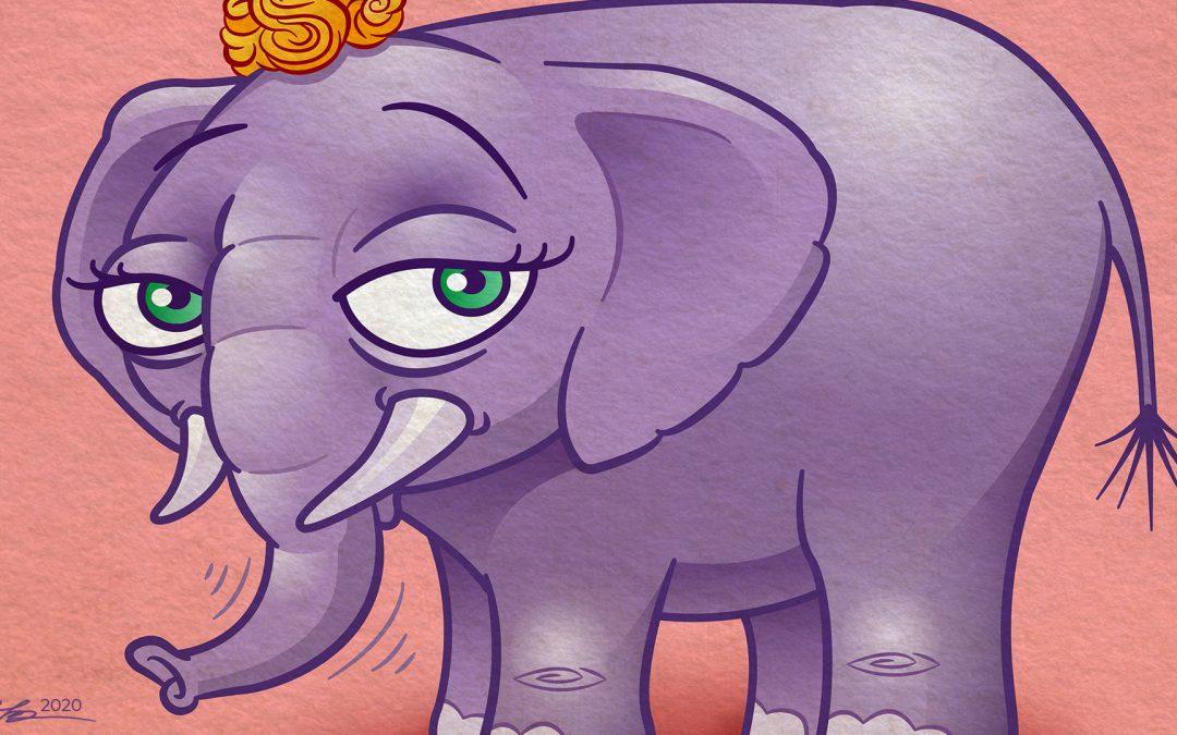 Cartoon Elephant Character Illustration