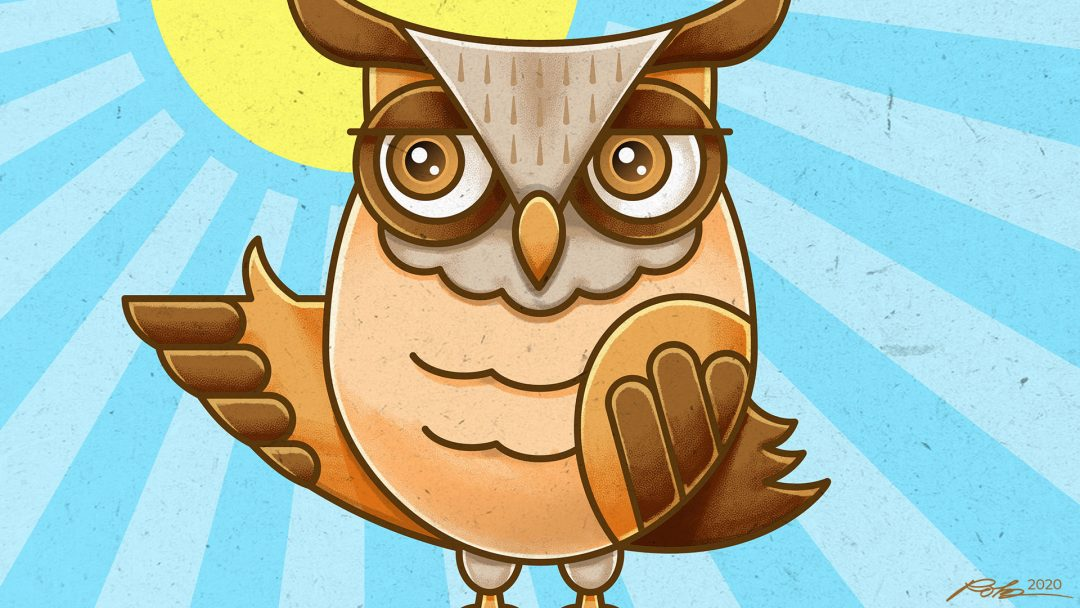 Cartoon owl illustration vector art