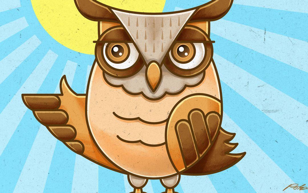 Owl Character Vector Illustration