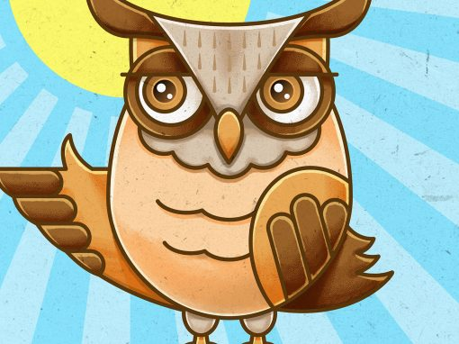 Owl Character Vector Illustration