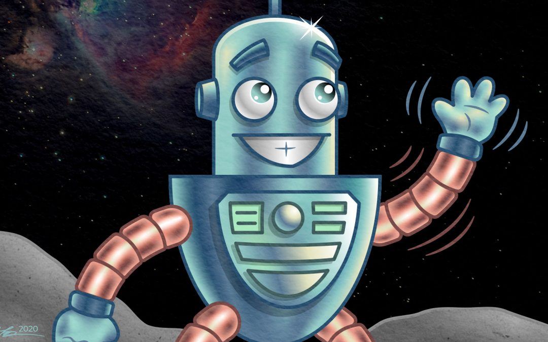 Cartoon Robot Character Illustration