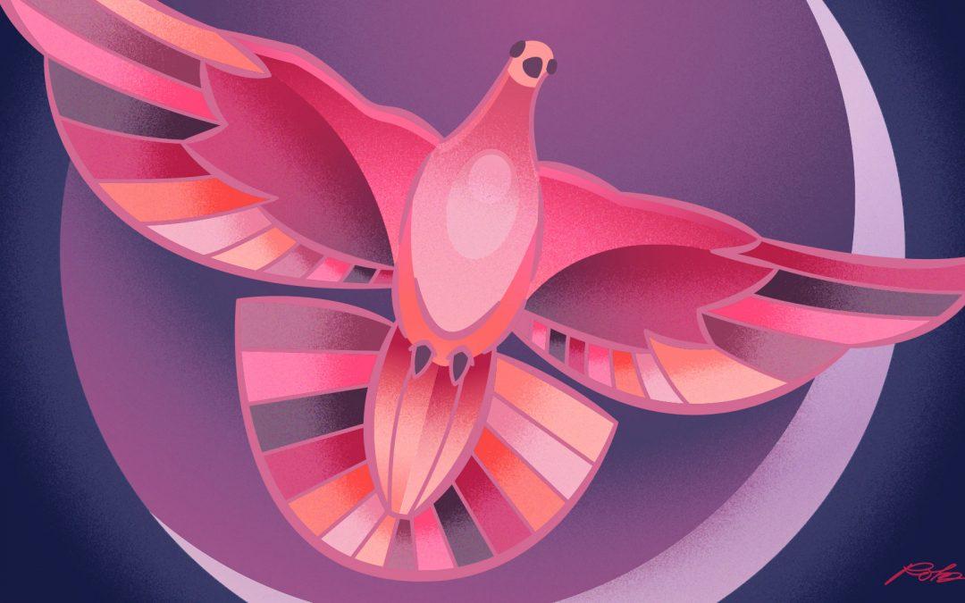 Textured Dove Vector Illustration